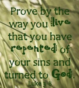 repentance is of the heart