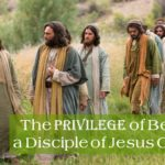 A Picture of the disciples of Jesus Christ with Jesus