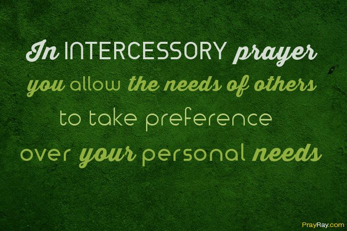 What is a Prayer of Intercession?